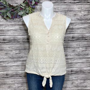 French Laundry Crochet Tank Top